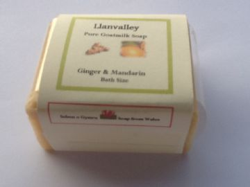 Soap - Bath Size Goatsmilk  with Ginger & Mandarin